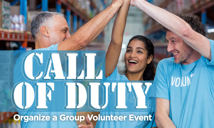 Call of Duty — Organize a Group Volunteer Event