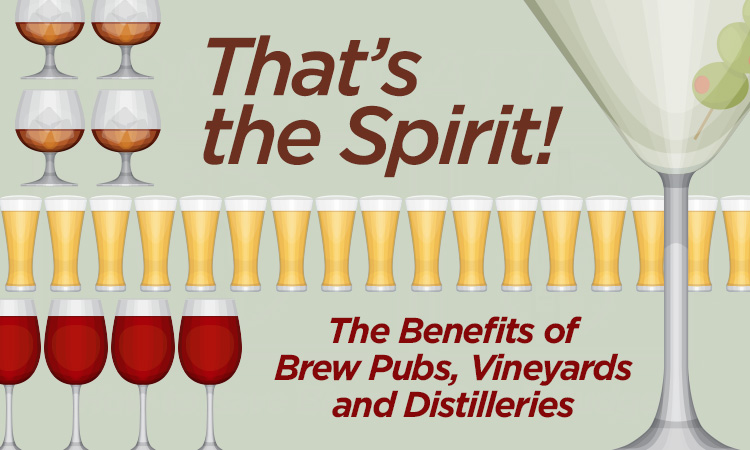 That's the Spirit! The Benefits of Brew Pubs, Vineyards & Distilleries