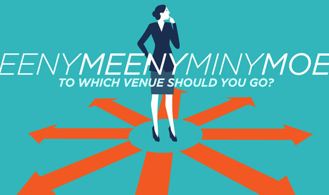Eeny Meeny Miny Moe — To Which Venue Should You Go?